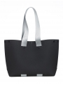 lommer eva two black light grey stripe tote still front