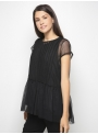 milla black lace top with shirt side