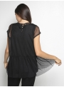 milla black lace top with shirt back