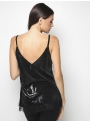 milla sleeveless sequin top black back