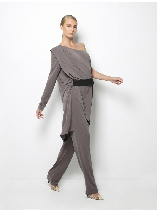 stelios koudounaris arlequin one shoulder jumpsuit CTS841 side