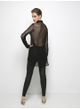 liana camba black tulle shirt 182-7119-8 back
