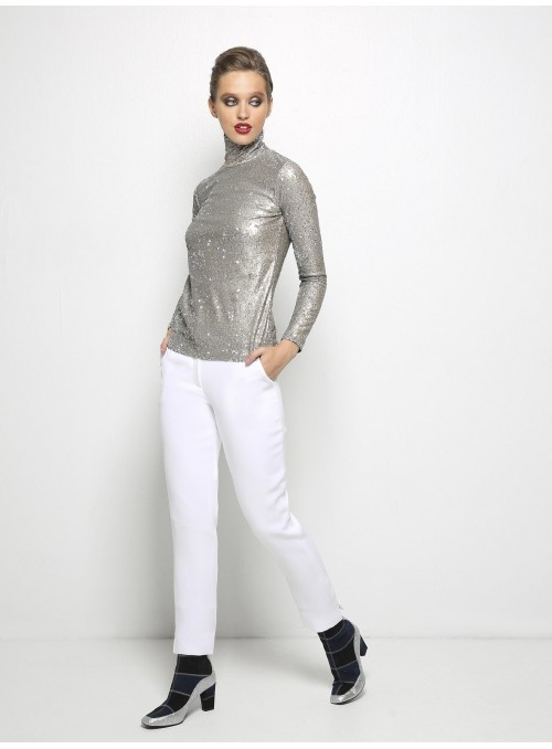 liana camba turtleneck blouse sequin 182-7125-46 model