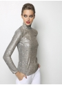 liana camba turtleneck blouse sequin 182-7125-46 side