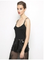 liana camba black top tulle sequin 182-7055-77 side