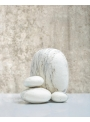 benu arts white felt pebbles ΡJPEWH2116-ΡJPEWH2216-ΡJPEWH2316 still