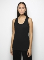 parthenis ribbed cotton tank top black 001011010 front