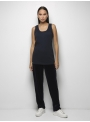 parthenis ribbed cotton tank top navy 001011010003 model