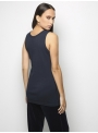 parthenis ribbed cotton tank top navy 001011010003 back