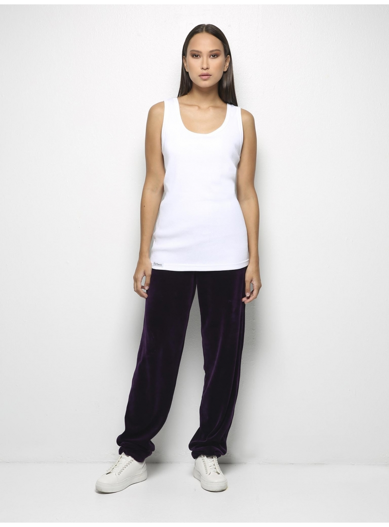 parthenis ribbed cotton tank top white 001011010000 model
