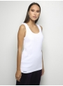 parthenis ribbed cotton tank top white 001011010000 side