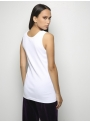 parthenis ribbed cotton tank top white 001011010000 back