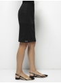 parthenis ribbed cotton tube skirt knee black 001014009 side