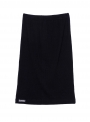 parthenis ribbed cotton tube skirt knee black 001014009 still