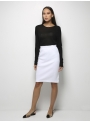 parthenis ribbed cotton knee skirt white 001014009002 model