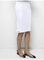 parthenis ribbed cotton knee skirt white 001014009002 side