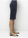 parthenis ribbed cotton knee skirt navy 001014009003 side