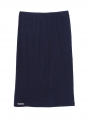 parthenis ribbed cotton knee skirt navy 001014009003 still