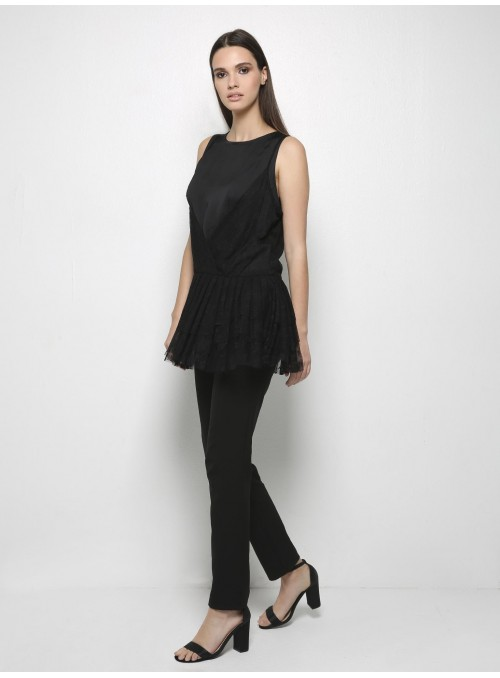 yves lace top black milla model