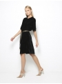 etoile coral daphne black velvet short dress side