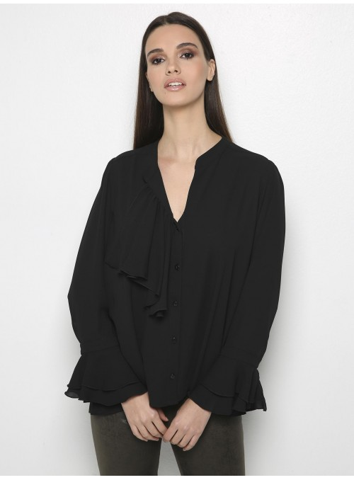 valery shirt black front
