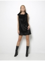 ioanna kourbela untouchable mini sack dress black front