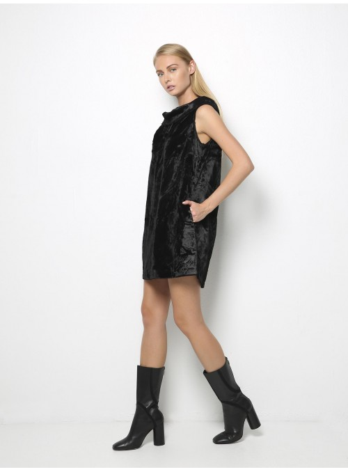 ioanna kourbela untouchable mini sack dress black side