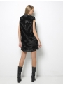 ioanna kourbela untouchable mini sack dress black back