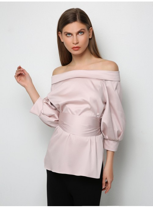 Powder Pink shirt blouse m2