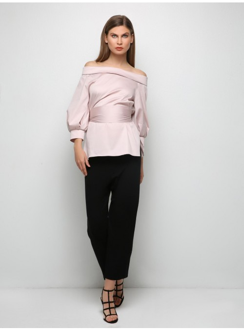 Powder Pink shirt blouse m1
