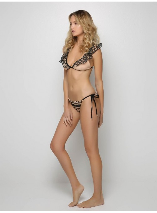 Fairy Lace nude and black bikini beachwear mitos swimwear