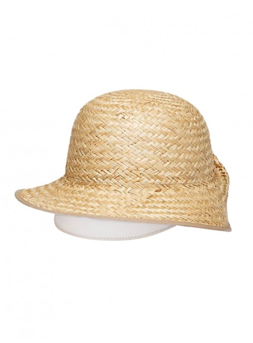 natural Straw white Leather Hat blanc hats