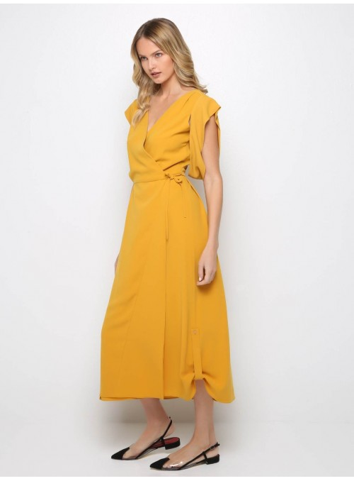 long mustard all day dress yiorgos eleftheriades