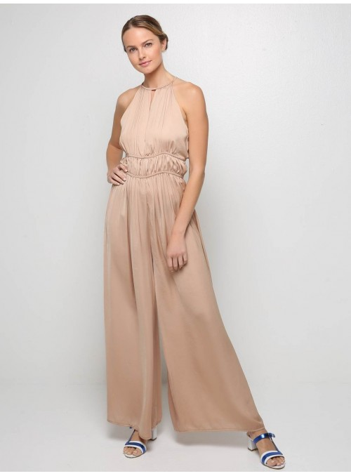 roman wide pants jumpsuit gold pink milla