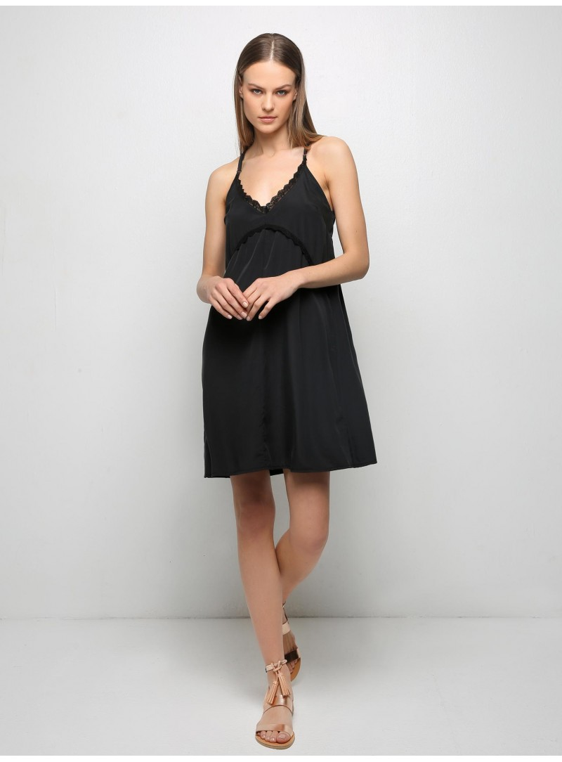 bow black tank dress with embellishments milla