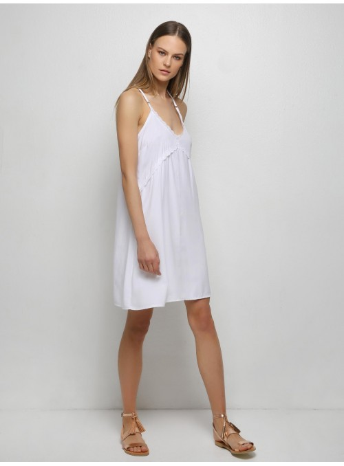 bow white tank dress with embellishments milla