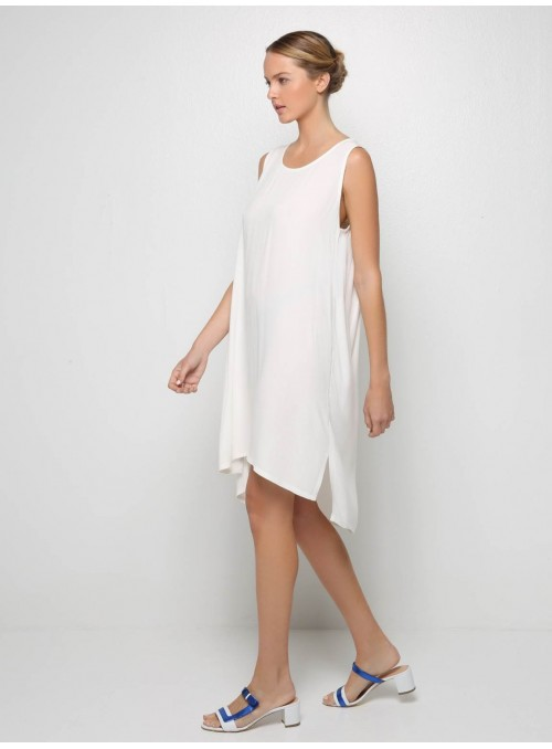 alela white pleated mini dress milla