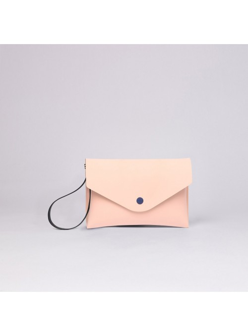 Eva Pocket clutch bag salmon pink lommer