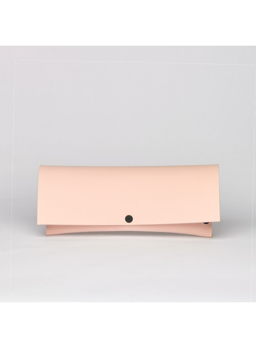 EvaClutch Small Linear salmon pink clutch bag lommer
