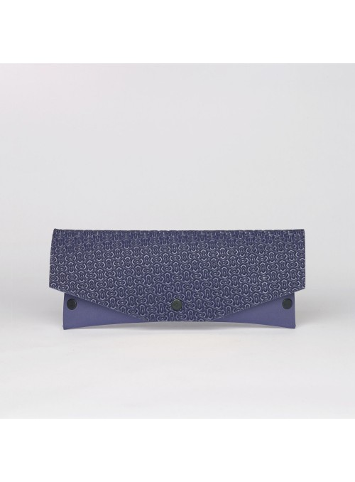 EvaClutch Small Square purple clutch bag lommer 3d texture