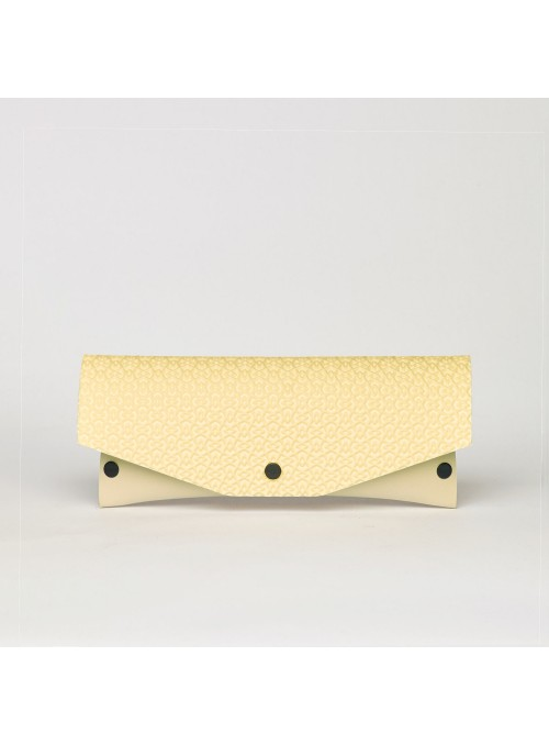 EvaClutch Small Square yellow clutch bag lommer 3d texture